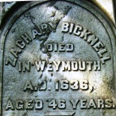 Zachary Bicknell gravestone